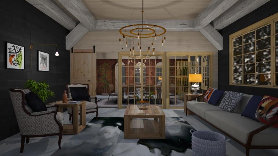 Modern Maine Get Away - Living room - by abbyt94