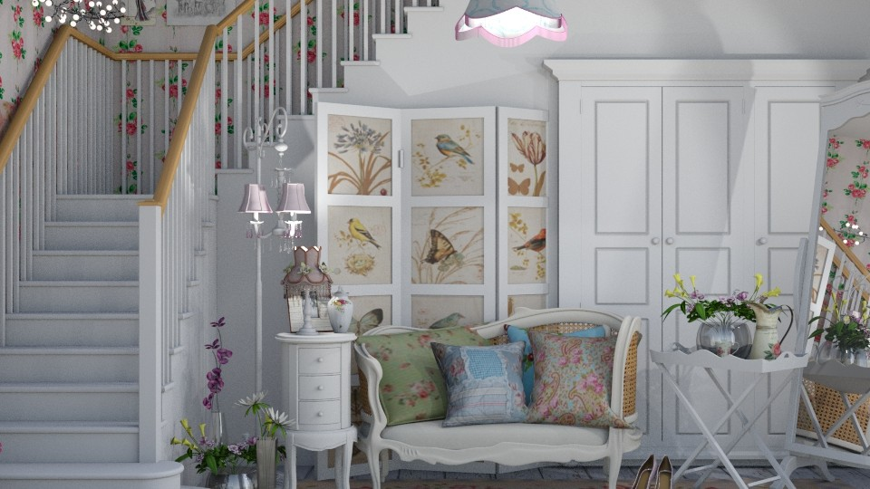 Shabby chique hallway - by tiana24