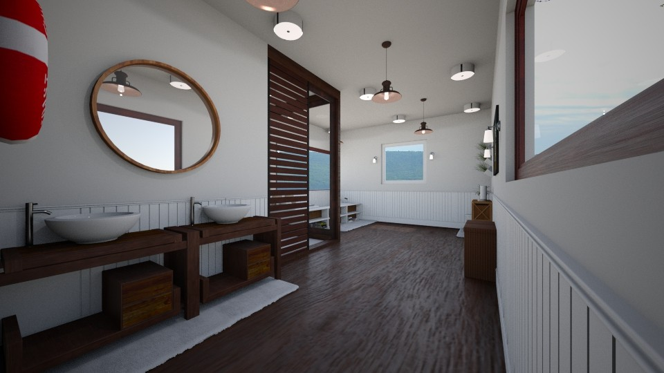 Beach Bum - Rustic - Bathroom - by tcooney