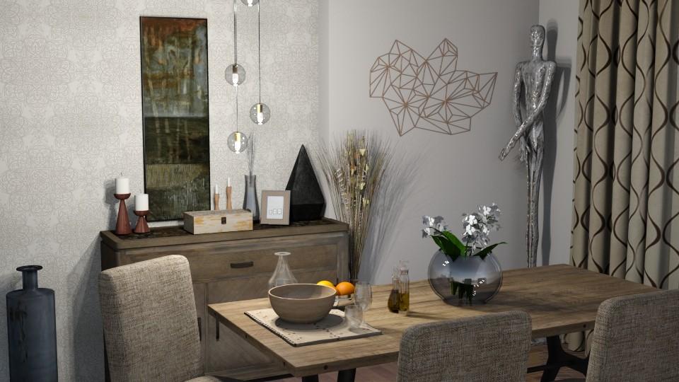 dining room - by dark