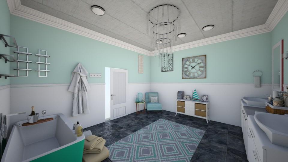 Mint Green Bathroom - Bathroom - by Taisha Casimir