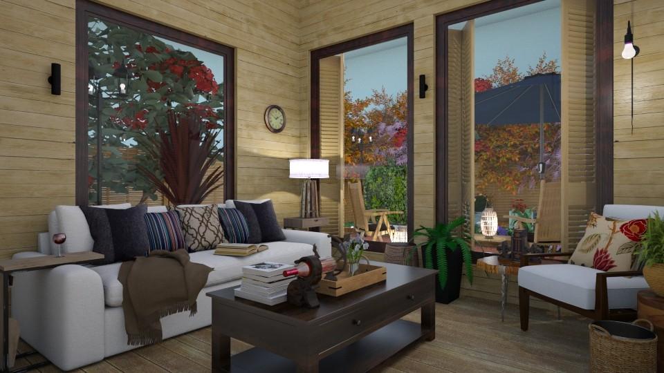 garden look - Living room - by alina2222