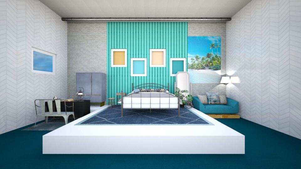 Turquoise room - Modern - Bedroom - by gefenkl
