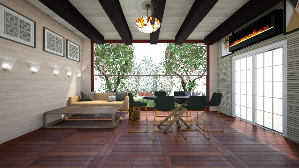 Brown living room - Modern - Living room - by gefenkl