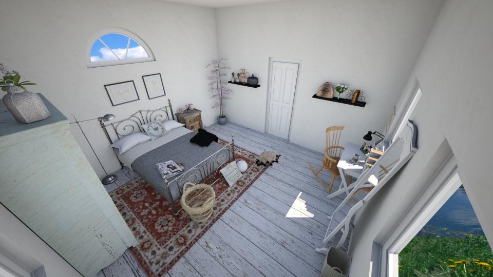 rustic bedroom - Rustic - Bedroom - by skylerbrown