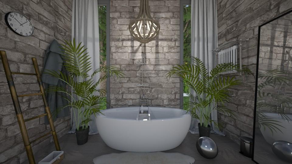 StoneWall Bathroom - Modern - Bathroom - by Papaya Tree