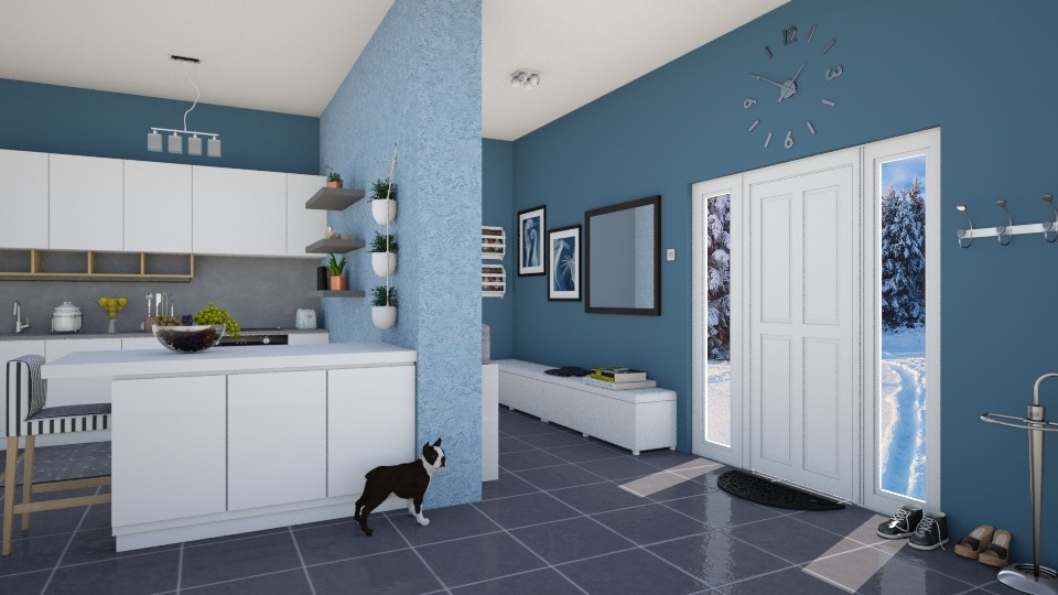 Boston terrier blue - by agapka