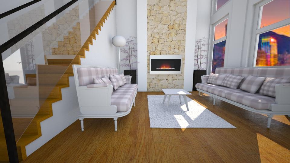 white home - Living room - by Joan De Leon