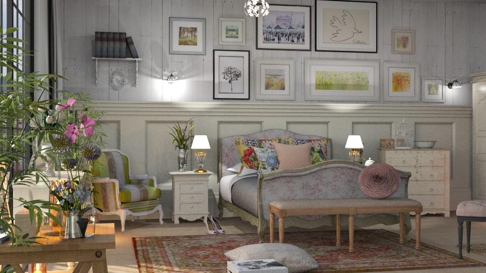 Floral_Bedroom - Bedroom - by ZuzanaDesign