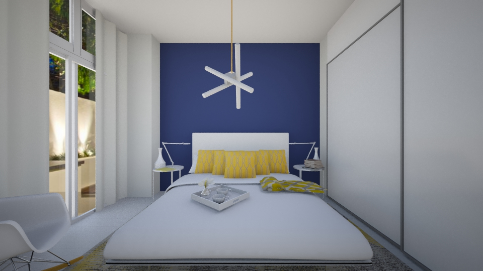 blue and yellow - Bedroom - by annasig