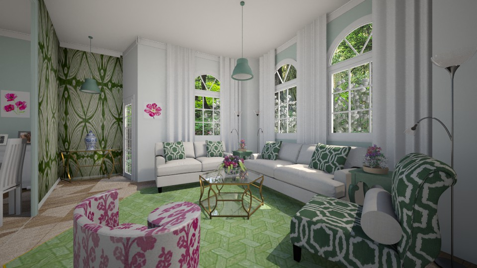 green  - Living room - by Karen Priest