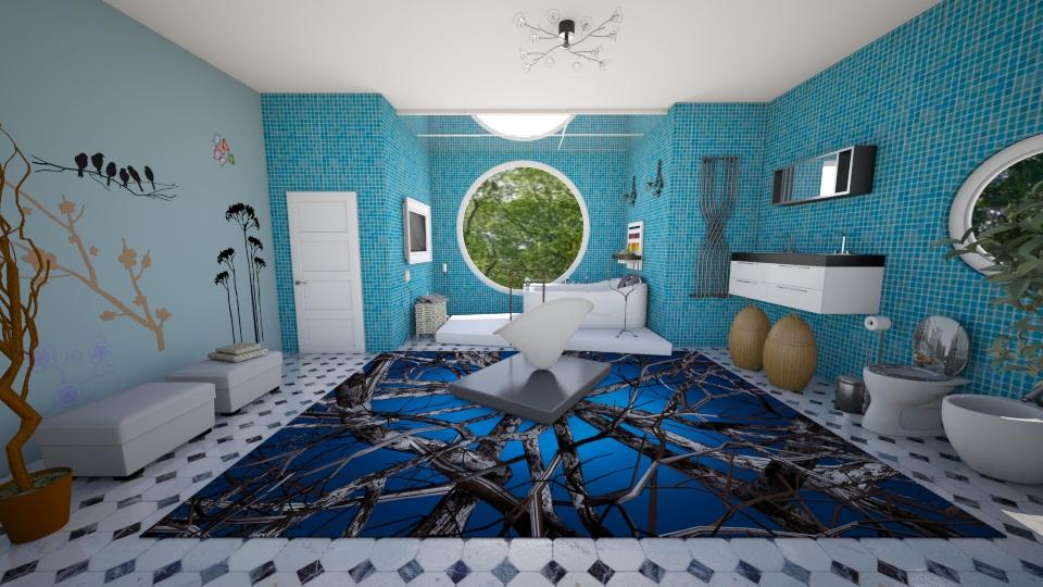 banheiro moderno com tv - Bathroom - by Tininha oliveira