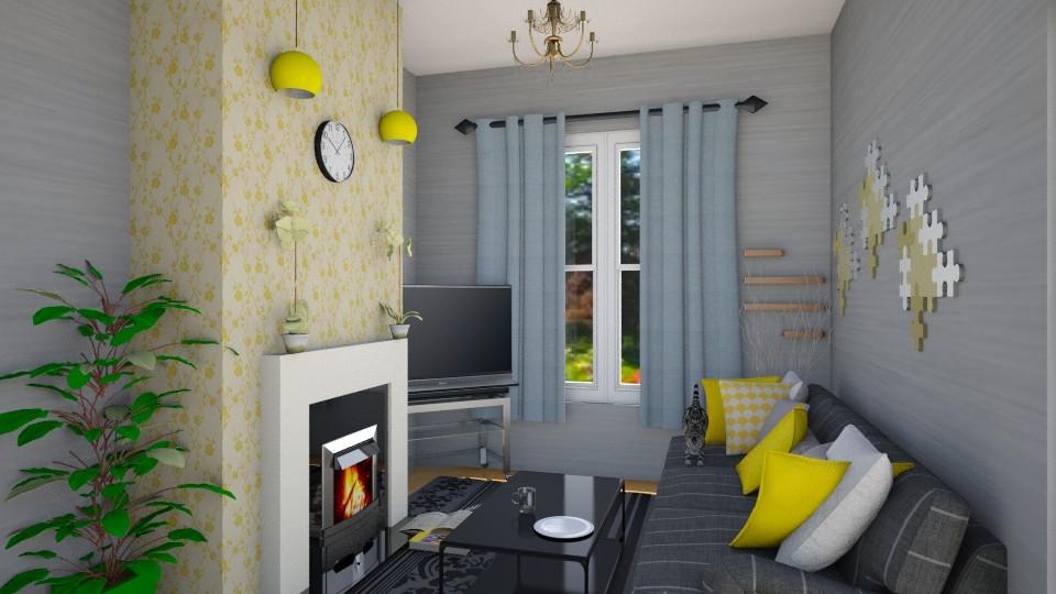 yellow - Living room - by zohaa101