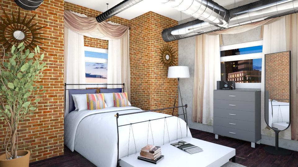 Industrial Room - Bedroom - by Laken Barnett