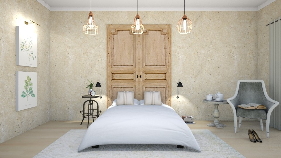Simple and Chic - Bedroom  - by Val Val