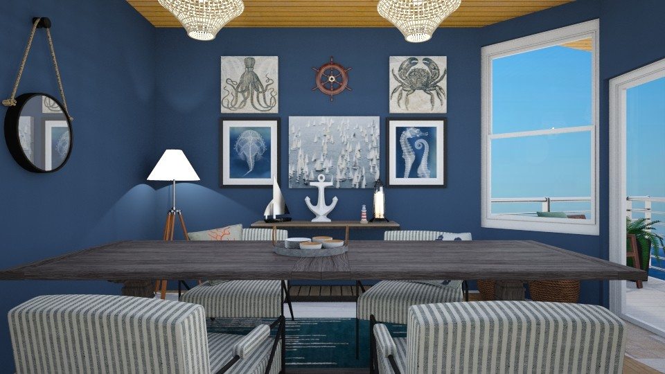 seaside dining - Dining room  - by Puppies44