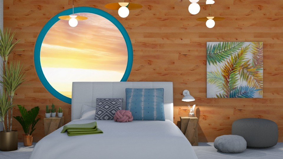 Wooden Tranquility - Bedroom - by LaughingDonut