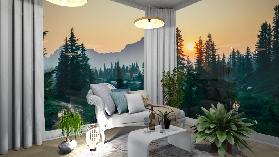 Forest Getaway - Glamour - Living room  - by LeilaniD04