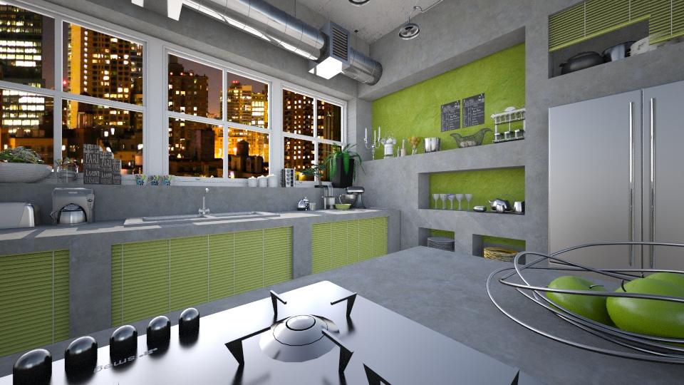 Concrete kitchen - by Nufra