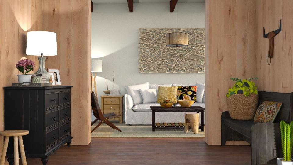 More Wood - Living room - by DeborahArmelin