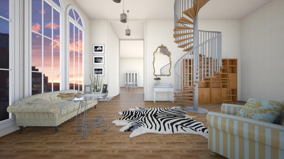 Современная Франция - Living room - by Polya_Nikols