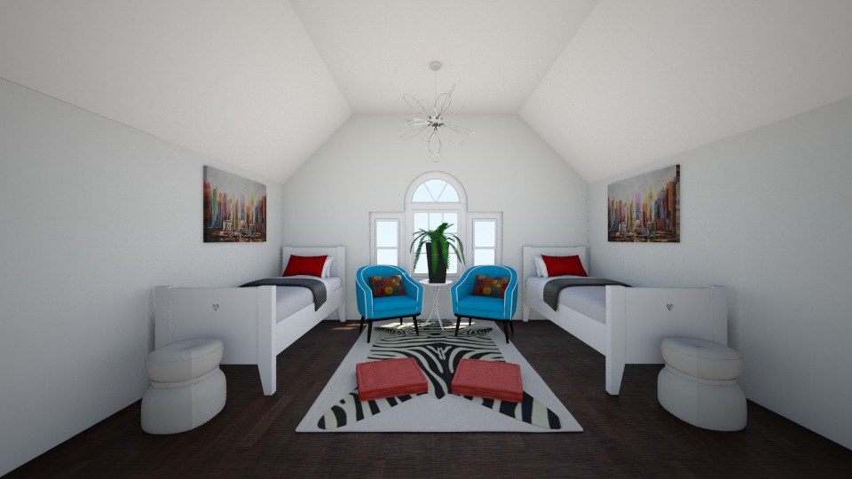 Symmetry Bedroom - Bedroom - by AlinaZ