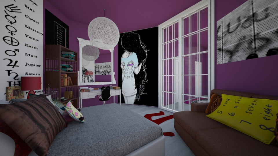 purple - Bedroom - by rachelfox985