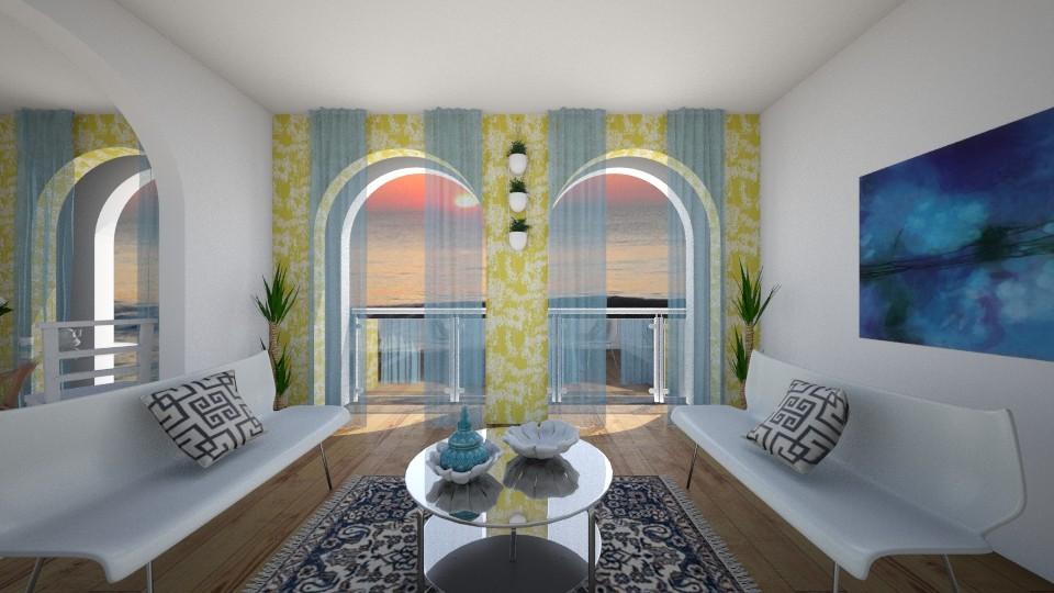 Beach View - Living room - by Laken Barnett