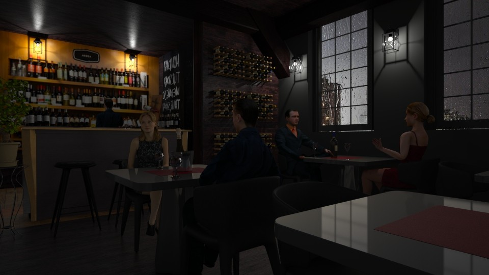 Pub Sombrio - by Sanare Sousa