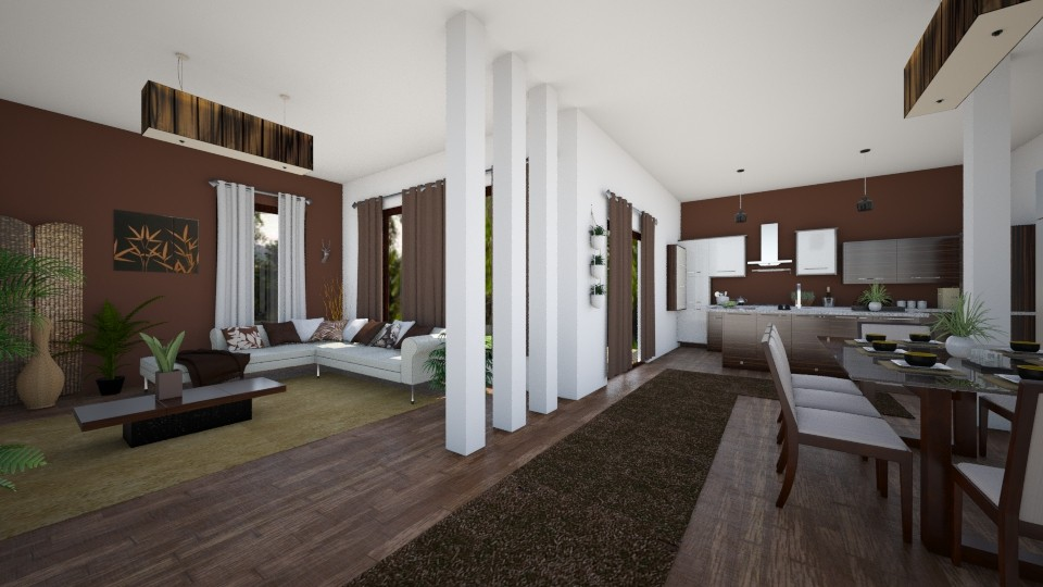 Modern in nature  - Living room - by evelyn19