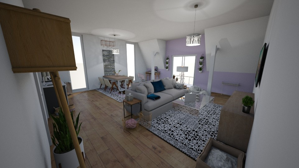 Student suite - Living room - by lalalandan