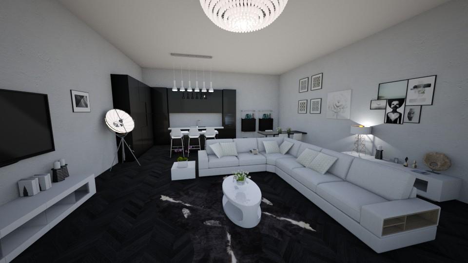 Black Gloss - Living room - by sephara