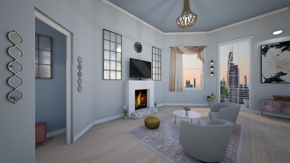 Monochromatic Living Space - Bedroom - by inkblot01