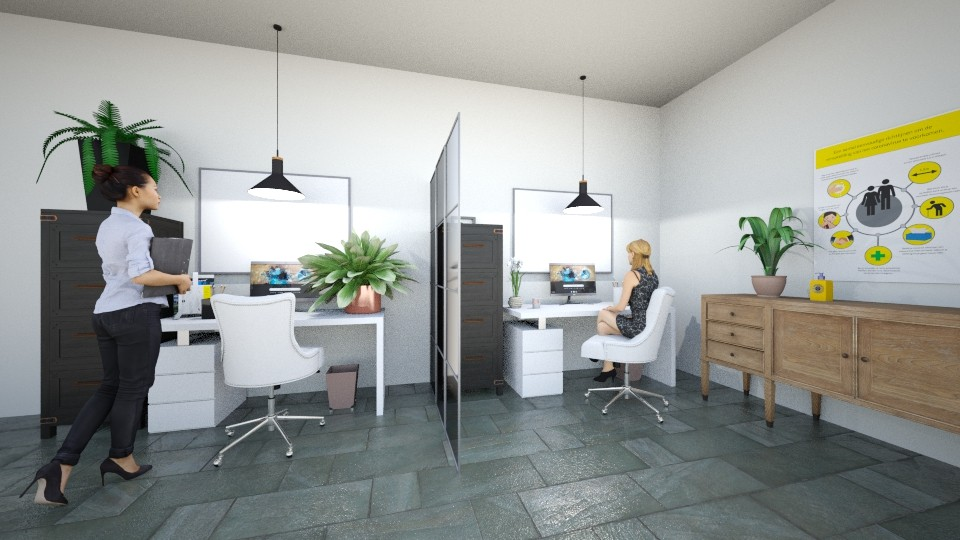 distancing office  - Office - by Adrianna 808