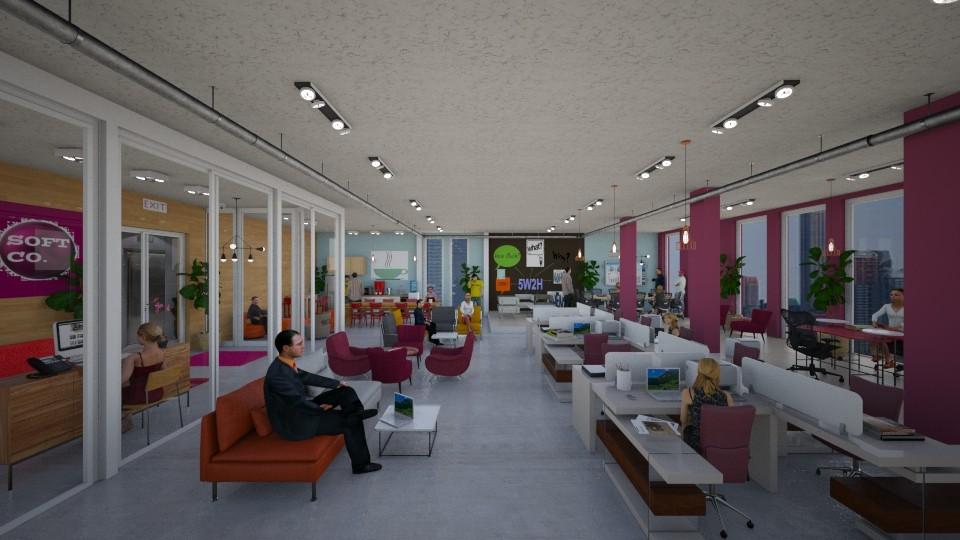 modern tech office - by Themis Aline Calcavecchia