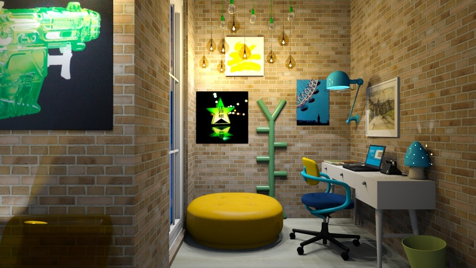 BlueYellowGreen office - Modern - Office  - by bleeding star