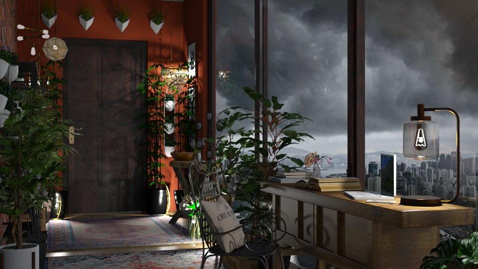 Urban Jungle Hallway - by lizasvetlin