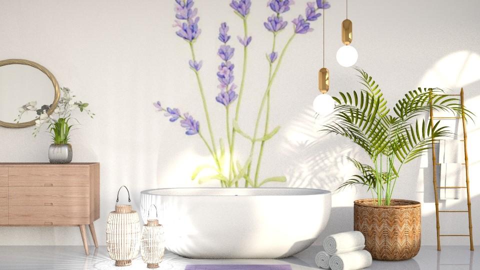 Lavender Bathroom - Bathroom - by CatsFurLife