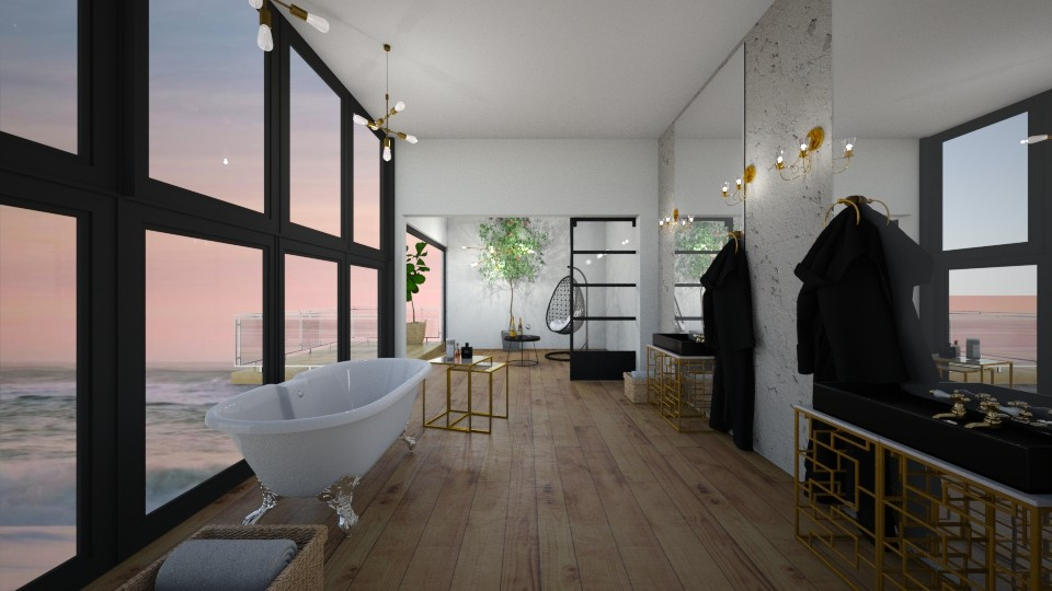 malibu bath - Bathroom  - by diegobbf