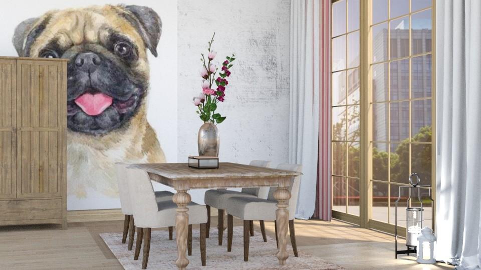 Pugs Dining - Dining room - by KimAlys