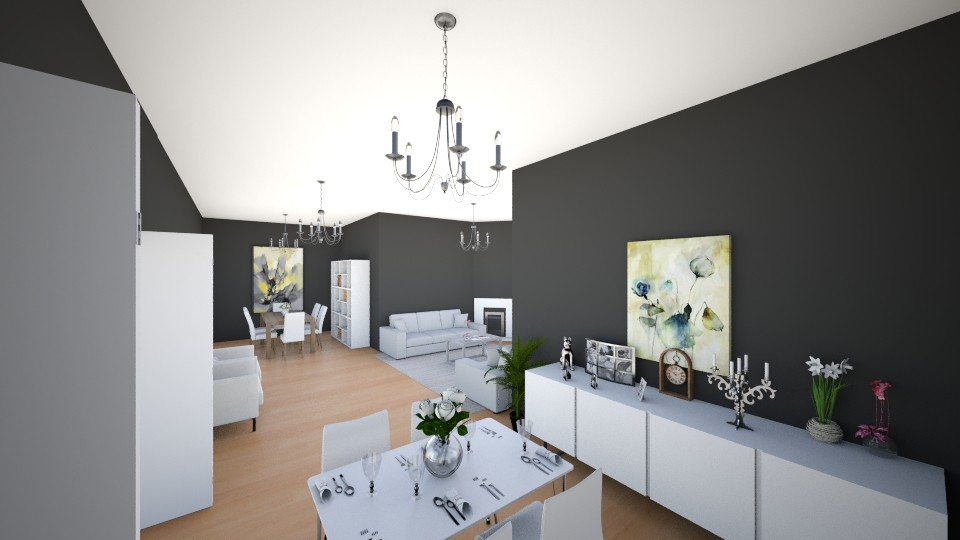 kitchen and living  - Modern - Living room - by AnaCatarina