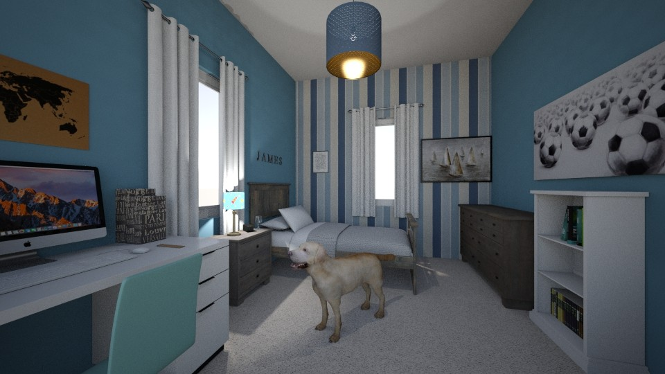 Young Boys Room - Modern - Bedroom - by cbruno23