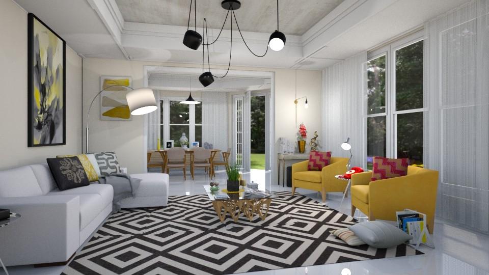 Amarelo - Living room  - by Roberta Coelho