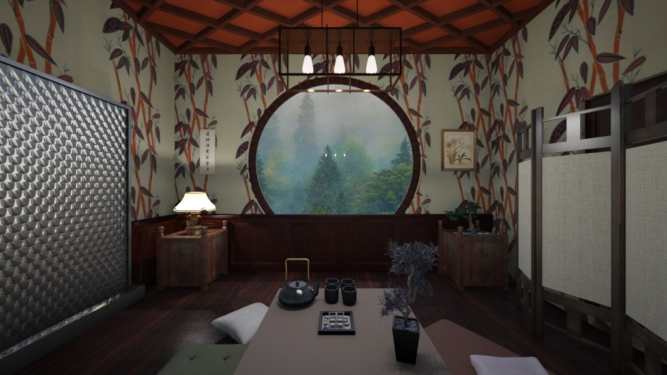 Bamboo and Water - Living room - by babbjiii