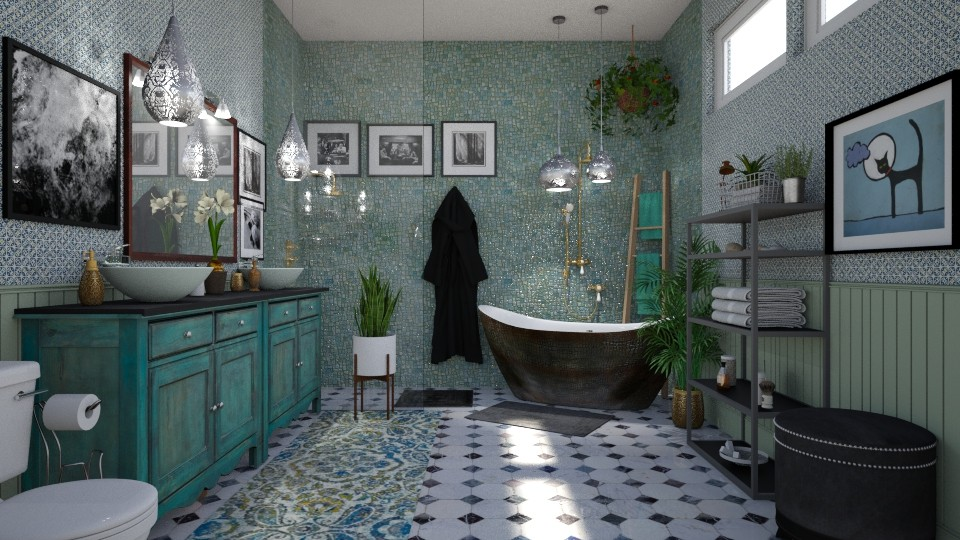 Eclectic Bath - Eclectic - Bathroom - by  krc60
