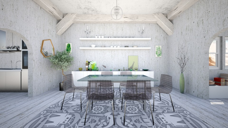 Weathered Dining Room - Dining room - by abbyt94