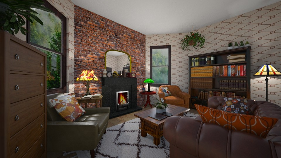 warm - Living room - by Kit Bramble