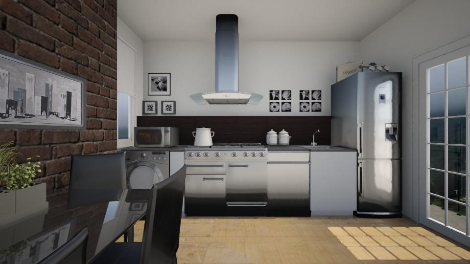SmallKitchenApartament - Kitchen - by Nard8A