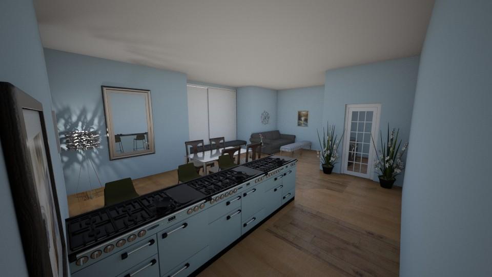 blue sunshine room - Feminine - Living room  - by aschaper