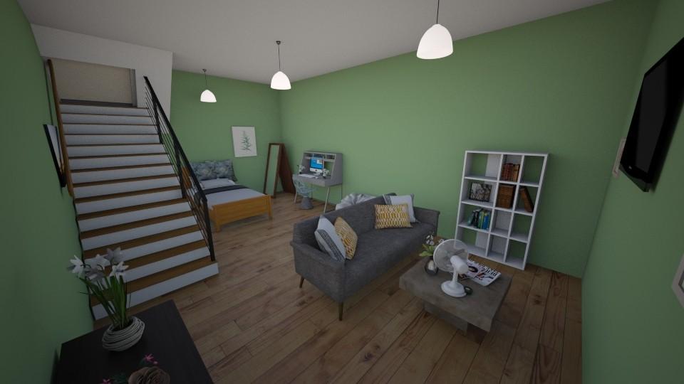 teenage basement bedroom  - Modern - Bedroom  - by aschaper